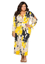 plus size geo button front maxi dress 010 7356p