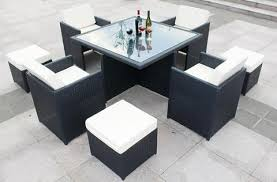 9 piece wicker rattan table set outdoor patio furniture dining set