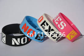 silicone bracelet wristband images No excuse motivation silicone bracelet for cancer awareness or jpg