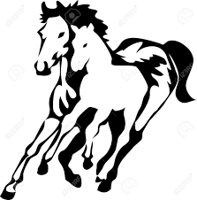 mustang horse logo mare with foal logo royalty free cliparts vectors and stock