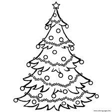 christmas tree free coloring pages printable