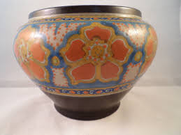 Polymer Clay Vases Gouda Style Jardiniere From Holland Early 1920 U0027s Romeo Large