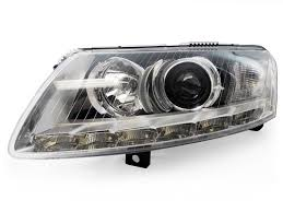audi a6 fog light bulb depo facelift led strip hid headlight for 2005 08 audi a6 c6 bi