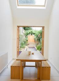 seemly tile together with benches design as wells as skylight idea