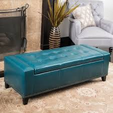Leather Ottoman Bench Guernsey Studded Faux Leather Storage Ottoman Bench By Christopher