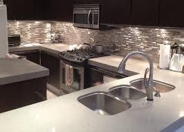Modern Kitchen Backsplash Designs Steel Metal Kitchen - Glass and metal tile backsplash
