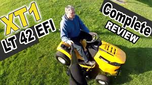 cub cadet xt1 lawn tractor review xt1 lt 42 efi youtube