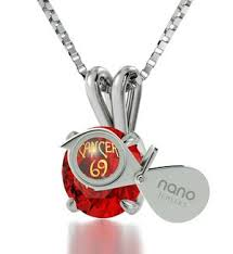 birthday gift for teenage cancer zodiac necklace nano jewelry
