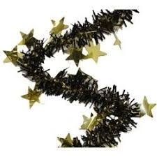 set of 3 purple green or gold wavy tinsel garland