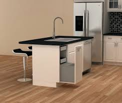 Kitchen Trash Cabinet Pull Out Kitchen Island With Trash Bin Trash Cans Dirty Work Double Bin