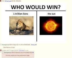 Sun Memes - lion vs sun 4chan know your meme