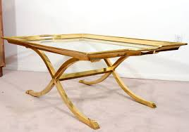 Brass And Glass Coffee Table Antique Brass And Glass Coffee Table