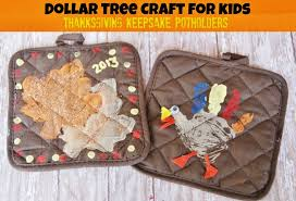 dollar tree thanksgiving keepsake potholder craft for dollar