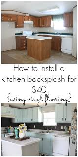 kitchen backsplash on a budget our 40 backsplash using vinyl flooring kitchen backsplash