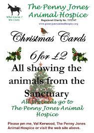 christmas cards now on sale penny jones animal hospice
