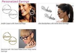 Personalized Name Earrings Imeety Fashion Jewellery Silver Name Pendant Earrings Circle