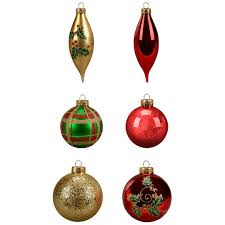 shop for the 19ct green and gold decorated glass ornaments by