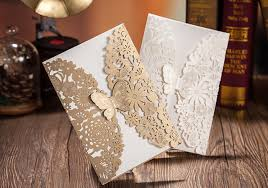 Invitation Cards Handmade - butterfly shape vintage handmade wedding invitation cards custom