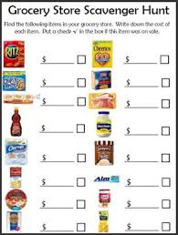 free grocery shopping scavenger hunt great way to structure your