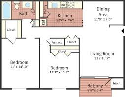 Typical Floor Plans Of Apartments Floor Plans For Oakview Estates Apartments Located In Lancaster