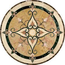 marble inlay flooring customizable flooring accents