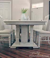 White Distressed Dining Table Pretty Distressed My Work
