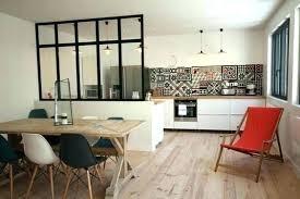 salon cuisine ouverte cuisine avec verriere sur salon aussi cuisine dune salon cuisine
