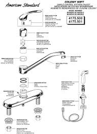 american standard kitchen faucets parts american standard faucets parts diagram kitchen faucet colony 500