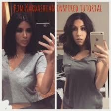 kim kardashian inspired makeup u0026 hair tutorial youtube