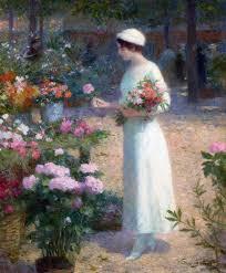 G Stige U K Hen Le Marché Aux Fleurs By Victor Gabriel Gilbert Art Women