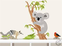 etsy wall decals koala color the walls of your house etsy wall decals koala wall decal koala numbat wall sticker for nursary