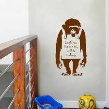 popular banksy vinyl sticker buy cheap banksy vinyl sticker lots banksy inspired monkey vinyl wall decal sticker banksy graphic wall art mural decor