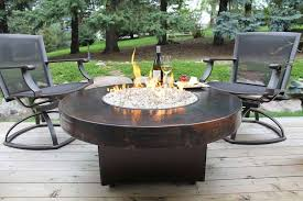 Redwood Patio Table Remarkable Patio Furniture With Gas Fire Pit Table And Outdoor