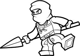 dessin à colorier ninjago vert à imprimer