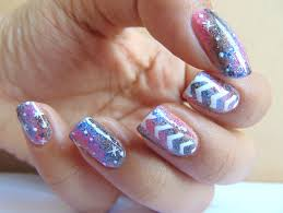 staggered galaxy nail art color the nails