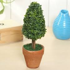 artificial potted plant plastic garden grass ball topiary tree pot