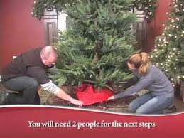 Decorated Christmas Tree Bag Storage assembly instructions upright storage tree bag youtube