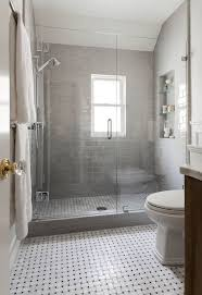 gray bathrooms ideas shower with gray subway tiles transitional bathroom benjamin