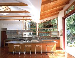 splendid angled ceiling kitchen modern with exposed beams douglas