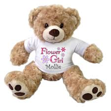 flower girl teddy flower girl teddy personalized 13 honey vera mandys