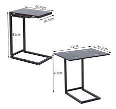 Dinner Tray Tables Expanding Tray Table Folding Bed Side Coffee Tea Dinner Mate Tv