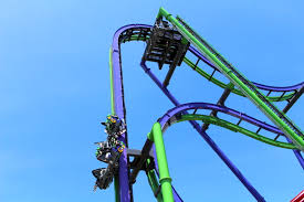 Six Flags Scary Rides Review Joker At Six Flags Great America Coaster101