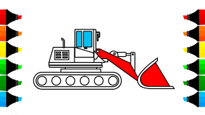 how to draw construction truck excavator coloring pages drawing