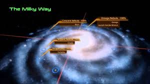 Milky Way Galaxy Map Mass Effect 2 Galaxy Map Youtube