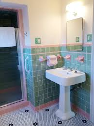 turquoise tile bathroom see jane design a vintage style green and pink tile bathroom for