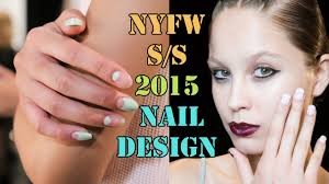 edgy nail art designs from new york fashion week youtube