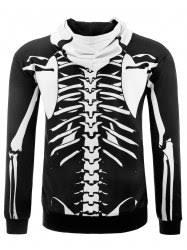 hoodies black xl hooded 3d skull skeleton print halloween hoodie