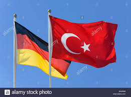 Germman Flag A Turkish And A German Flag Stock Photo Royalty Free Image