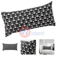 black patterned cushions set of 2 ikea cat lover patterned cushion mattram white black 12x24