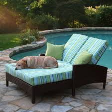Outdoor All Weather Wicker Furniture by Anacara Atlantis All Weather Wicker Adjustable Double Chaise